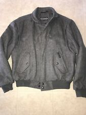 MEMBERS ONLY ~ Vtg Charcoal Gray Motorcycle Bomber Coat Jacket EUC ~ 46