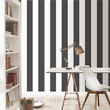 Streifen Tapete Schwarz/Weiß - Rasch 286694 Neu