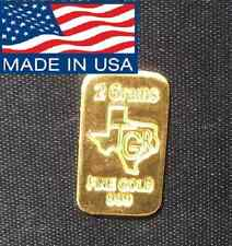 2 GRAM GOLD 999.9 FINE  NORTH AMERICAN 24K ASSAY WITH FAST 2 DAY PRIORITY SHIP !
