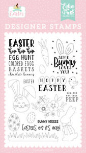 Echo Park Paper WELCOME EASTER Bunny Kisses Clear Stamp Set