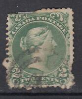 """Canada Scott #24  2 cent  green  """"Large Queen""""  filler"""
