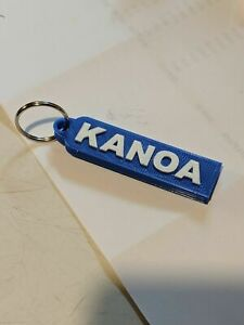 Custom 3D printed Keychain Luggage Tag Backpack zipper pull name raised letters