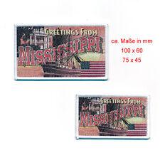 2 Mississippi Jackson Retro Nostalgie Patches USA Aufnäher Aufbügler 0814
