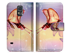 Dream Butterfly Wallet Case Cover For Samsung Galaxy S5 - A010