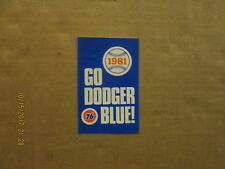 MLB Los Angeles Dodgers Vintage DO DODGER BLUE! 1981 Baseball Pocket Schedule