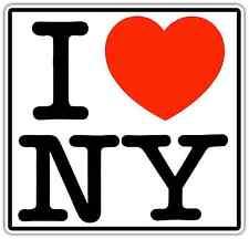 "I Love New York City Manhattan Car Bumper Window Sticker Decal 4.6""X4.6"""
