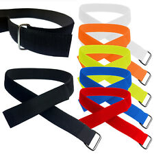 25mm Adjustable & Reusable Ring Straps with Metal Buckle & VELCRO® Brand Tape