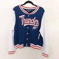 NWT Womens OKC Thunder Varsity Jacket Size L