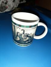 Vtg Coffee Mug Cup Canada Goose Canadian Geese Birds never used