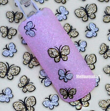 3D Glitter Butterfly Nail Art Stickers Decals Nail Tips Manicure Kit DIY Beauty