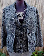 MK Michael Kors Tweed Jacket Blazer Vest Suit sz 10 M