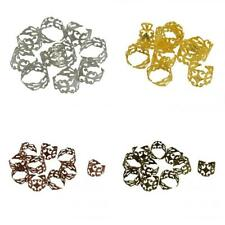 40pcs Mixed Color Adjustable Filigree Finger Ring Finding Pad Ring Base 18mm