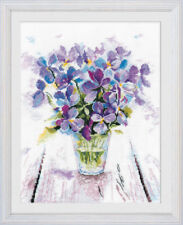 "Counted Cross Stitch Kit OVEN - ""Blue violets"""