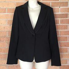 White House Black Market Black Blazer SZ 6 Suit Jacket Suiting Career -J
