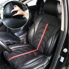 Universal Auto Vordersitzbezug Schonbezüge Rot+Schwarz PU Leder Schalensitzbezug