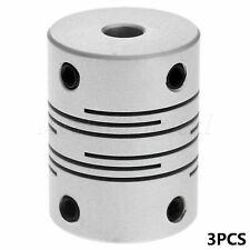 3Pcs 5X8mm CNC Motor Jaw Shaft Coupler Coupling Stepper Coupler Flexible Clutch