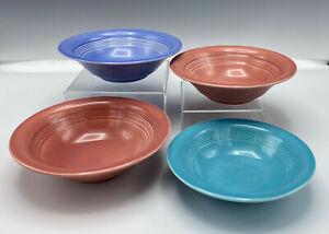 3 Harlequin Homer Laughlin Vintage 36s Oatmeal Bowls Cereal Bowls & 1 Fruit Bowl