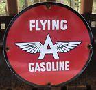 VINTAGE FLYING A PORCELAIN SIGN GAS MOTOR OIL METAL PUMP STATION GASOLINE