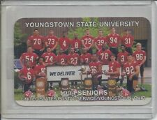 RARE 1994 YOUNGSTOWN STATE PENGUINS FOOTBALL POCKET  SCHEDULE (JIM TRESSEL)
