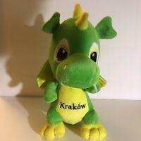"Light Green Yellow Krakow Dragon Plush 12"" Soft Stuffed Animal Toy 2011"
