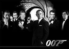 James Bond 007 Poster - Darsteller - DIN A1 quer - Wandbild - 59,4 cm x 84,1 cm