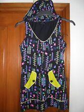 living dead souls size m 10 / 12 long top / mini dress nwot hodded