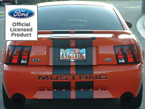 2002 2003 2004 FORD MUSTANG LETTERS REAR BUMPER INSERTS VINYL DECALS FITS 99-04