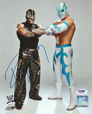 REY MYSTERIO SIGNED AUTO'D 8X10 PHOTO PSA/DNA COA WWE ECW WCW AAA LUCHA MASK G