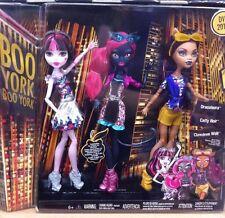 Monster High Boo York RARE 3 Pack bundle Draculaura Clawdeen Wolf Catty Noir