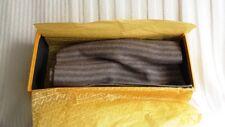 Thinkashmir Italy 100% Cashmere Scarf Brown Stripe, Gift Boxed - NIB