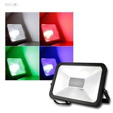 Flutlichtstrahler 50W RGB LED 230V, Fluter Scheinwerfer m Fernbedienung Strahler