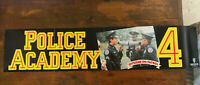 POLICE ACADEMY 4 rare Warner VHS era VIDEO BANNER POSTER cult 80s comedy