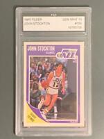 1989 Fleer #156 John Stockton HOF FGS 10 Utah Jazz
