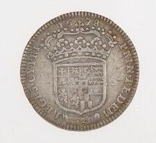 Savoia Vittorio Amedeo II 1 lira Reggenza della Madre 1678   Exc  MB++  #M047
