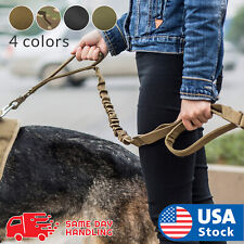 Retractable nylon rope Dog Leash Tactical K9 for large dog Heavy duty coupler