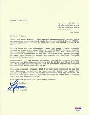Lance Alworth Signed Letter PSA/DNA COA Chargers Football Hall of Fame Autograph