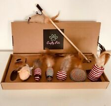 Crafty Pets Cat Teaser Box. 100% Natural 7PC Gift Box Collection.