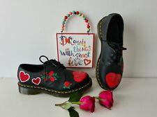 Dr Doc Martens 1461 pascal Valentine red heart sequin shoes UK 6.5 EU 40 US 8.5