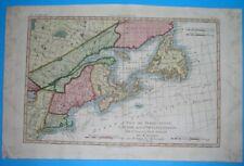 1780 ORIGINAL MAP UNITED STATES CANADA MASSACHUSETTS MAINE QUEBEC MONTREAL