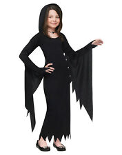 Hooded Gown Scream Movie Long Vampire Dress Girls Witch Halloween Costume L