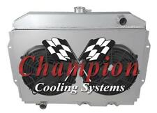 "4 Row Atomic Champion Radiator W/ 2 12"" Fans and Shroud for 1968 - 1974 AMC AMX"
