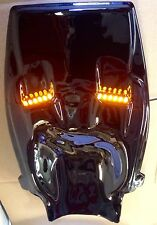 GLOSS BLACK ABS PLASTIC KAWASAKI ZX12R 2000-2005 UNDERTAIL W LEDS - NEW