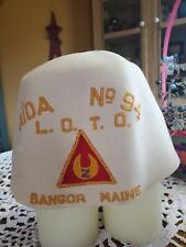 ODD FELLOWS LADIES OF THE ORIENT FEZ HAT BANGOR MAINE