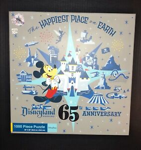 Disney Parks Disneyland 65th Anniversary 1000 Piece Puzzle LIMITED Free Shipping
