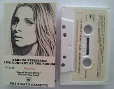BARBRA STREISAND LIVE CONCERT AT THE FORUM PAPER LABELS CASSETTE TAPE