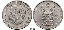 PegasusAuctions_com: 2211. Sweden, Gustav VI Adolf, Pattern 1 Krona 1967-U