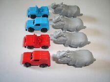 SAFARI JEEPS WITH RHINOS MODEL CARS SET 1:87 H0 - KINDER SURPRISE MINIATURES