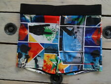 Short maillot de bain style lycra motifs skatebord LONGBOARD taille 38/40