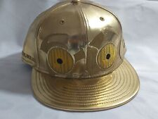 💖 59FIFTY NEW ERA C-3PO STARWARS GOLD BASEBALL CAP - GREAT CONDITION
