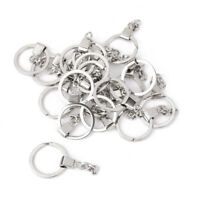20PCS Alloy Key Split Rings With Chain Keychain Findings Accessories DIY Crafts